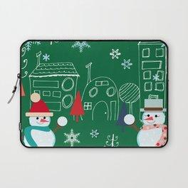 Winter fun green Laptop Sleeve