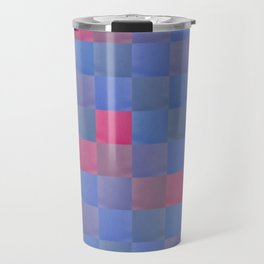Zig-zag edged felt patchwork Travel Mug