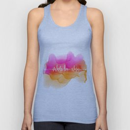 Love Beat Watercolor back Unisex Tank Top