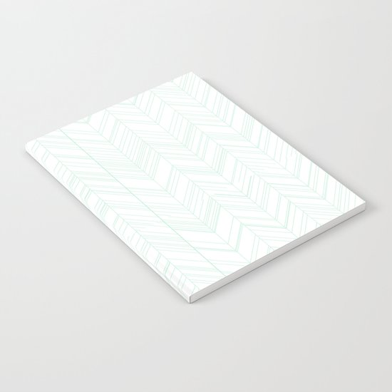 Abstract chevron pattern- light green Notebook