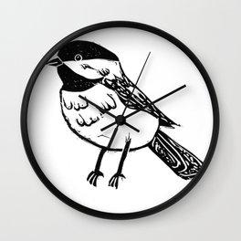 Chickadee dee dee Wall Clock