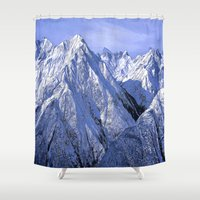 giants Shower Curtains featuring Giants by Robin Curtiss