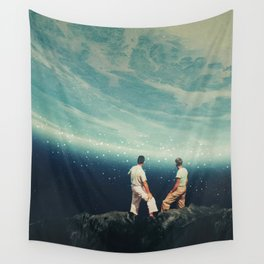 The Earth was crying and We were there Wall Tapestry