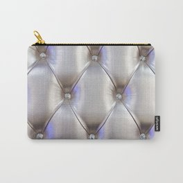 Silvery leather with rhinestone decoration Carry-All Pouch