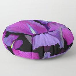Purple Irises Floor Pillow