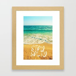Stay Salty Watercolor Art by Adam Asar - Asar Studios 2 Framed Art Print