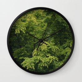 Rainy Japanese Maple Wall Clock