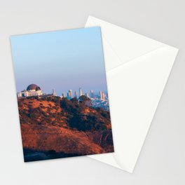 Los Angeles Griffith Park Observatory with City in Background Stationery Cards