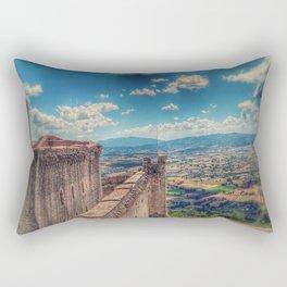 Castle, Assisi, Italia Rectangular Pillow