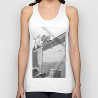 washington dc Tank Tops featuring Construction site and fence Washington, DC by RMK Photography