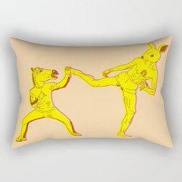 Horse-Dude versus Kick-Bunny Rectangular Pillow