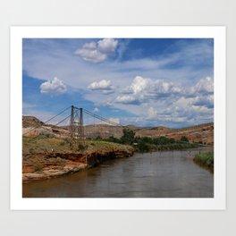 Dewey Bridge Ruins Art Print