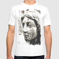 Face of solitude SMALL White Mens Fitted Tee