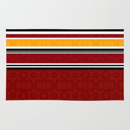 Red Striped Rugs Society6