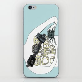 Shoot with cameras not guns iPhone Skin