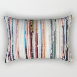 Abstract Records Rectangular Pillow