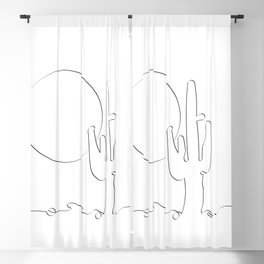 stand like a cactus Blackout Curtain