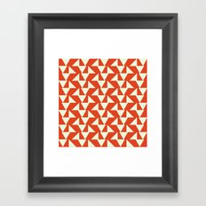 Orange summer Framed Art Print