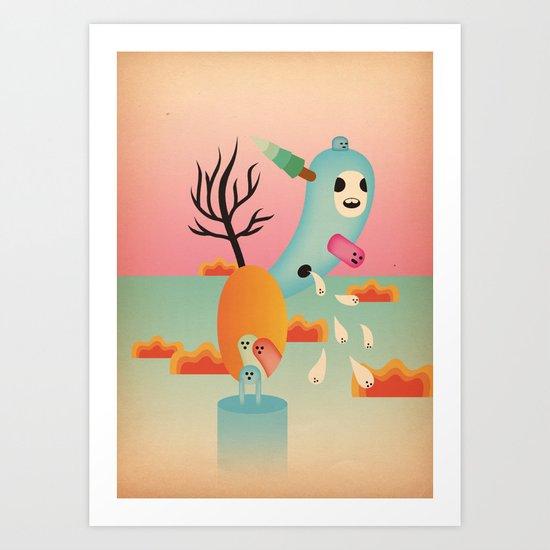 albero fiorito 2011 Art Print