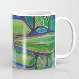 Blue Green Echo Coffee Mug