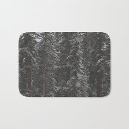 Snowy Forest Bath Mat