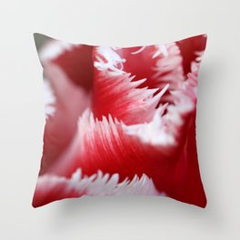 Crayon shavings or tulip twist? Throw Pillow