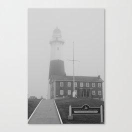 Foggy Entrance of Montauk Lighthouse Canvas Print