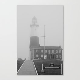 Foggy Entrance of Montauk Lighthouse Canvas Print
