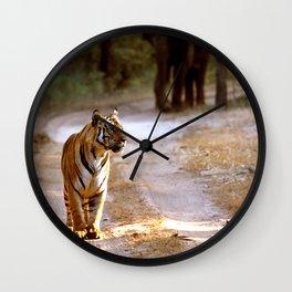 TIGER ON TRACK Wall Clock