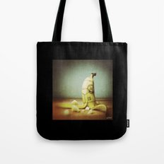 Moby's Little Idiot in a Banana Crash Tote Bag