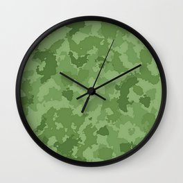 Camouflage Kelly Green Wall Clock