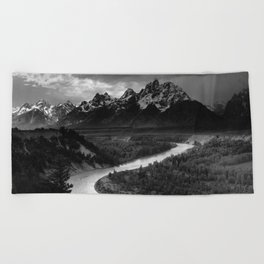 Ansel Adams - The Tetons and Snake River Beach Towel