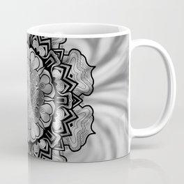 Gray Swirl Mandala Coffee Mug