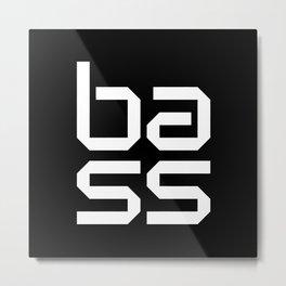 Bass Block Music Quote Metal Print
