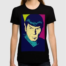 Spock Logic Black Womens Fitted Tee LARGE