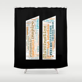Life Path 11 (black background) Shower Curtain