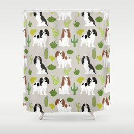 Cavalier King Charles Spaniel must have gift accessories for dog breed owner king charles dog Shower Curtain