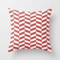 herringbone Throw Pillows featuring Herringbone. by Jake  Williams