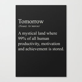 Tomorrow - The land of all of everything Canvas Print