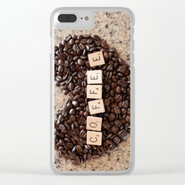 Love Coffee Clear iPhone Case