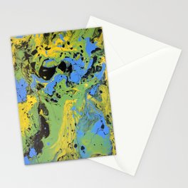 Original Acrylic Painting, Poured Painting, Abstract, Acrylic Flow, Art Resin, Art Epoxy, Fluid pain Stationery Cards