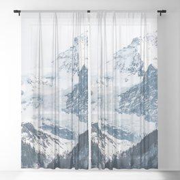 Mountains 2 Sheer Curtain