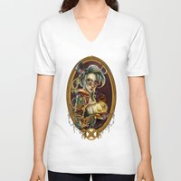 steampunk V-neck T-shirts featuring Steampunk by Mili Koey