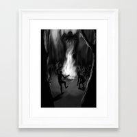 cthulhu Framed Art Prints featuring Cthulhu by Guilherme Garcia