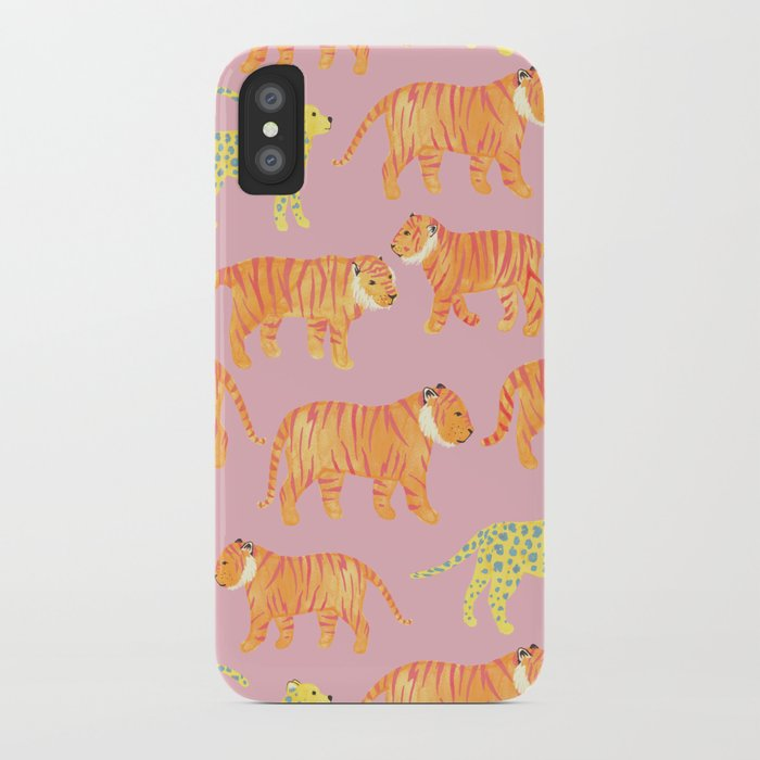 Pink Tigers iPhone Case