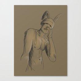 Broken Bunny Canvas Print
