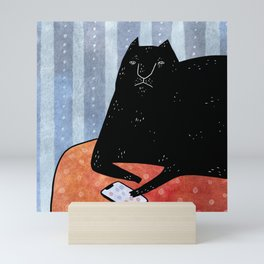Cat call Mini Art Print