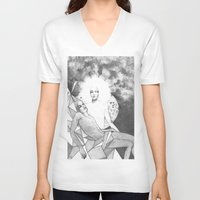 apollo V-neck T-shirts featuring apollo & hyakinthos by Oxxygene