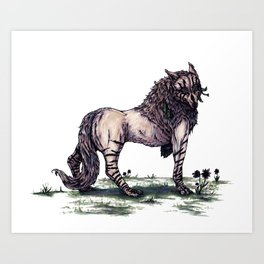 Wolf Princess Art Print