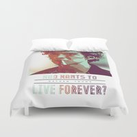forever young Duvet Covers featuring Forever Young by InariRaith